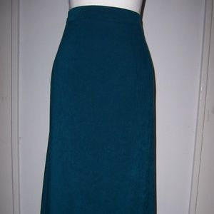 KSL Maxi Skirt 22W Turquoise Suede Like
